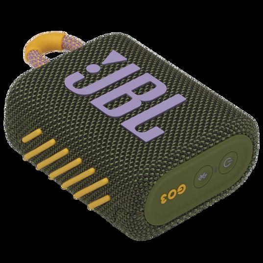 JBL Go 3 - Green - Portable Waterproof Speaker - Detailshot 3