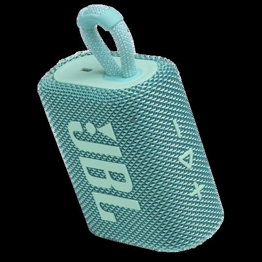 JBL Go 3 - Teal - Portable Waterproof Speaker - Detailshot 2