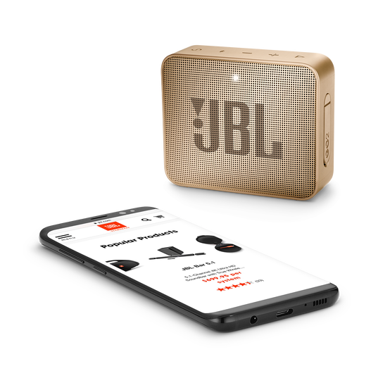 JBL GO 2 - Champagne - Portable Bluetooth speaker - Detailshot 3